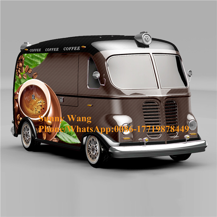 Mobile Electric Coffee Food Truck Snack Fast Food Cart/truck/trailer Outdoor Use Tourist Car With CE Approved