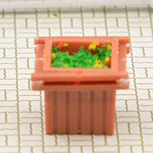 1/100 scale Building material sand table model DIY indoor scene outdoor background square square flower soldiers model scene natural leaf litter scale models simulation birch leaf leaves the effect sand scene dedicated