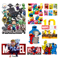 DIY Minecraft Heat Transfer My World Iron on Patches For Clothing Marvel Vinyl On Clothes Cartoon Thermal