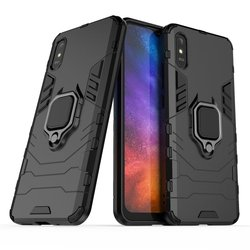 Redmi 9A Case Luxury Armor Shockproof Phone Case For Xiaomi Redmi 9A 9C 9 Magnetic Metal Finger Ring Protection Back Cover 6.53