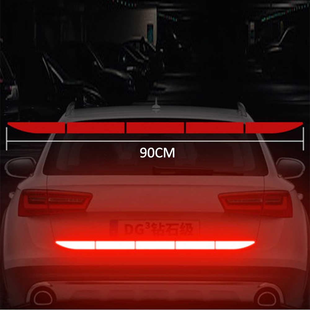 Voiture autocollants décalcomanies boîte de sauvegarde voiture décoration Automobiles réfléchissant Anti-collision avertissement bande voiture style accessoires TSLM2