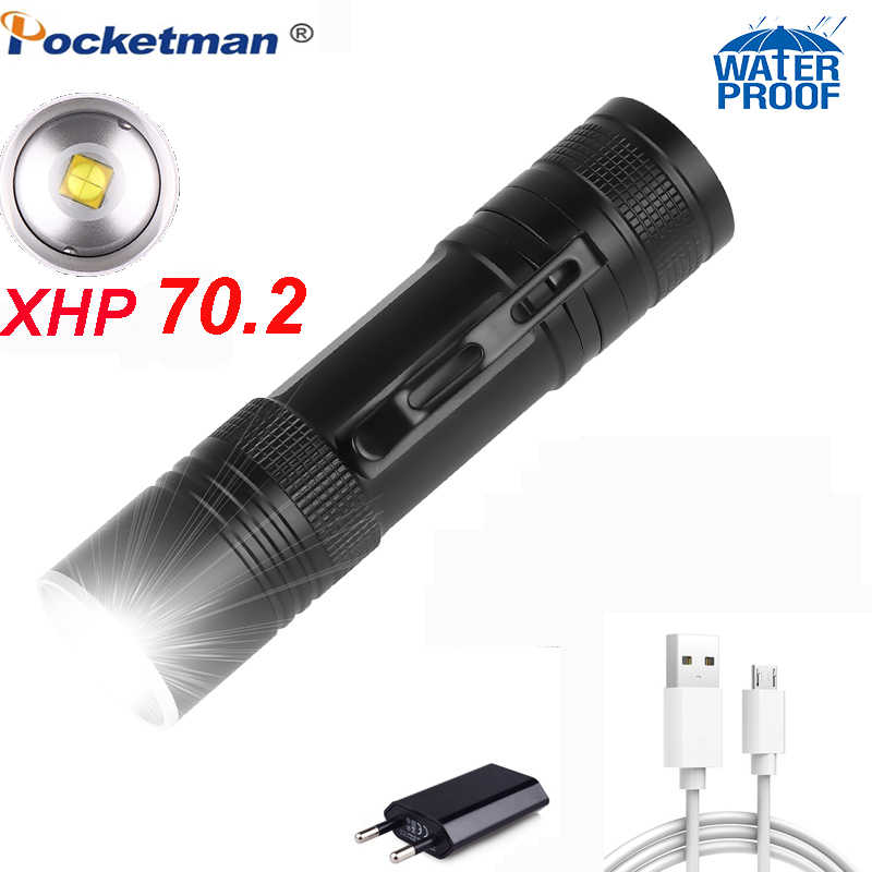 60000 lumens Lamp xhp50 most powerful flashlight usb Zoom linterna led torch xhp50 18650 or 26650 Rechargeable battery hunting
