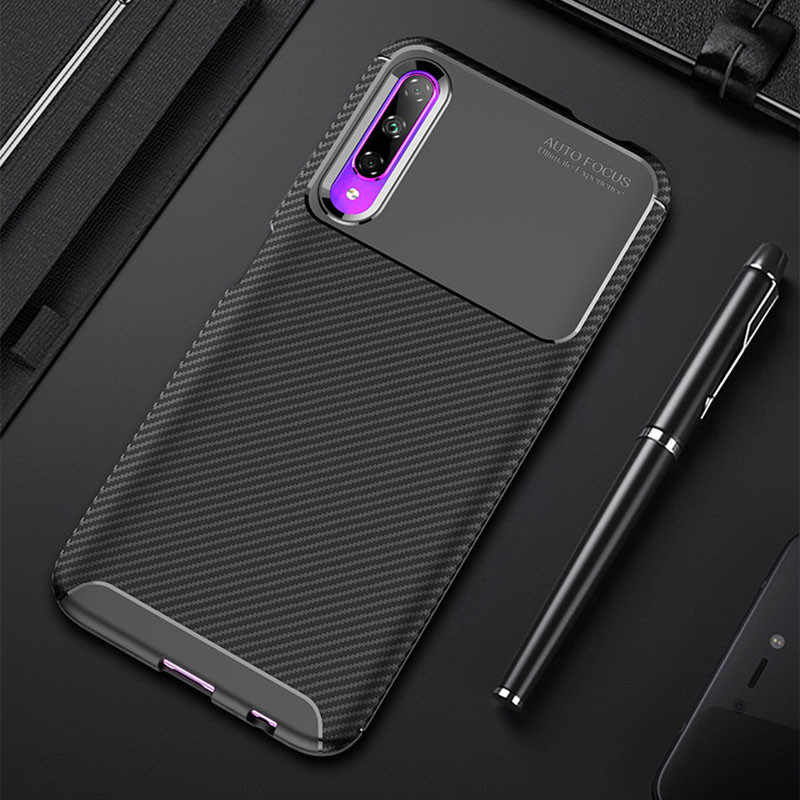 Carbon Phone Cases for Huawei Honor 9X 8X 8C 8A 8S 10 20 Lite Play Case Y5 Y6 Y7 Pro Y9 Prime P Smart Plus Z 2019 Cover Silicone