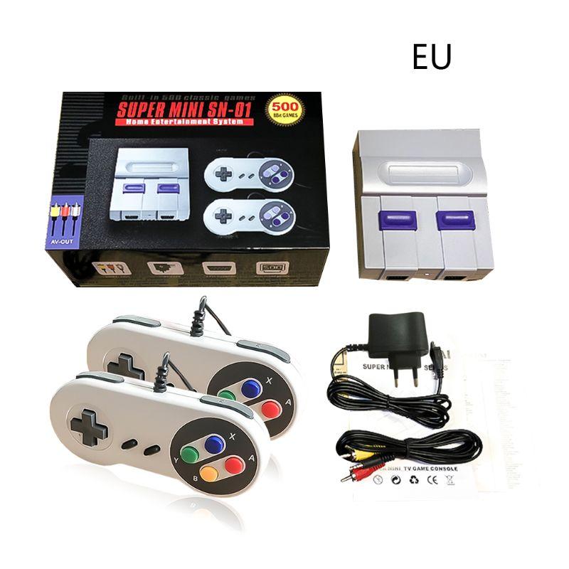1Set Super Mini 8Bit Game Console Mini TV Retro Handheld Gaming Player Gamepads AV Output Built-in 500 Classic Video Games