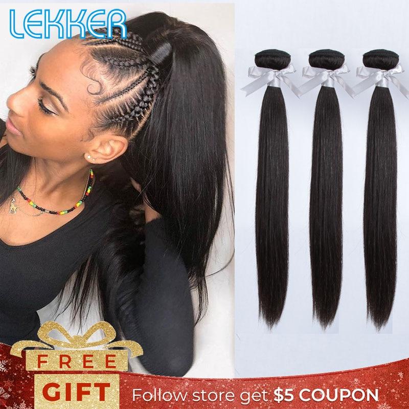 Lekker Brazilian Hair Straight Hair Weave Bundles 3 Bundle Ponytail Hair Extensions Wholesale Cheap Bundles Human Hair