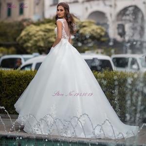 Image 2 - Julia Kui lüks A line düğün elbisesi prenses gelin elbise Sequins kristaller mahkemesi tren