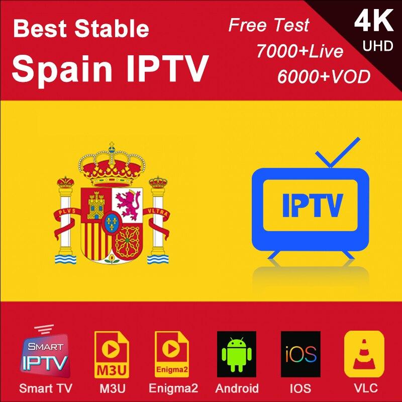 Spanish IPTV Spain Subscription M3U Abonnement IPTV France Germany Italy Portugal Android Smart IPTV Enigma2 For IOS Phone