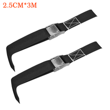2pcs Lashing Ratchet Belt Fastener Strong Car Cargo With Buckle Truck Multifunctional Heavy Duty Luggage Tie Down Strap Bike buckle tie down belt car cargo strap strong ratchet belt luggage cargo lashing
