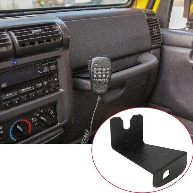 Cb Mic Holder Mount Handheld Microphone Radio Walkie Talkie Bracket Mounting for Jeep Wrangler Tj 1997-2006 Car Accessories