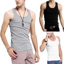 Summer Men's Sleeveless Stringer Tank Top Male Cusual Slim F