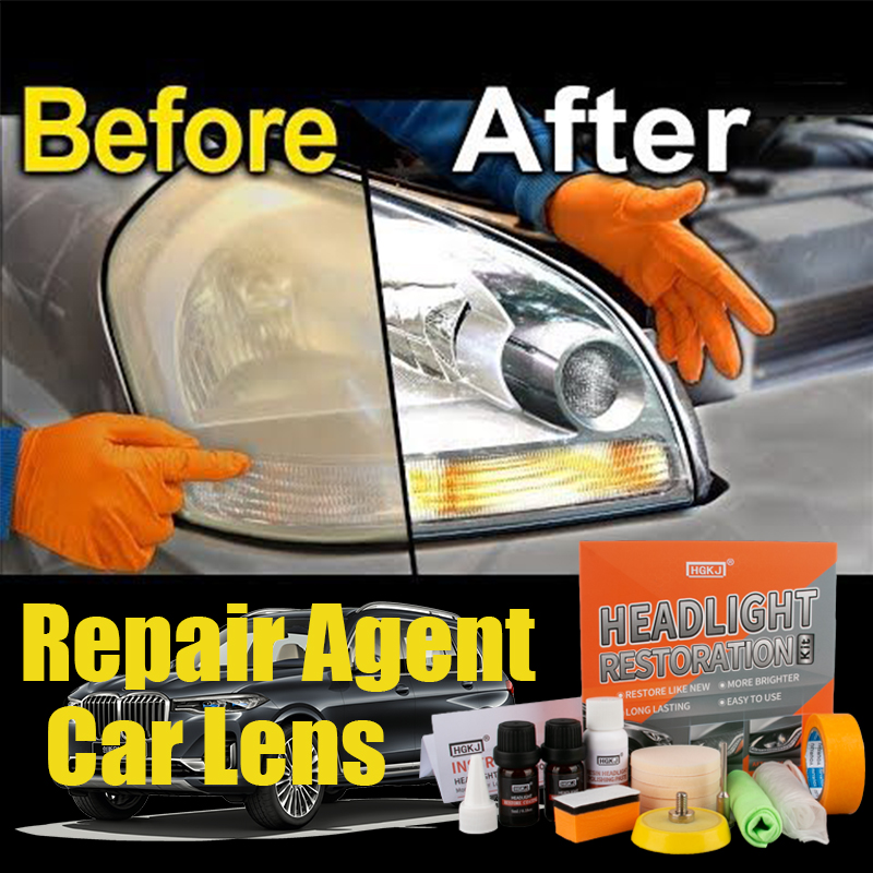 HGKJ Car Headlights Restoration Kit Car Polish Headlight Tool Restore Headlights Lens Repair Headlamp Scratch Remover