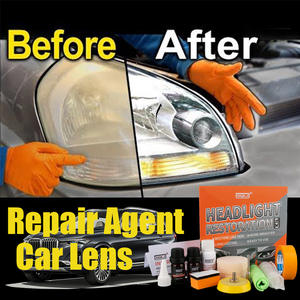 HGKJ Car Headlights Restoration Kit Car Polish Headlight Tool Restore Headlights Lens Repair Headlamp Scratch Remover