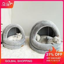 Hoge Kwaliteit Kat Huis Bedden Kittens Huisdier Katten Sofa Matten Gezellige Bed Speelgoed Hond Voor Kleine Kennel Thuis Grot Slapen nest Indoor Producten