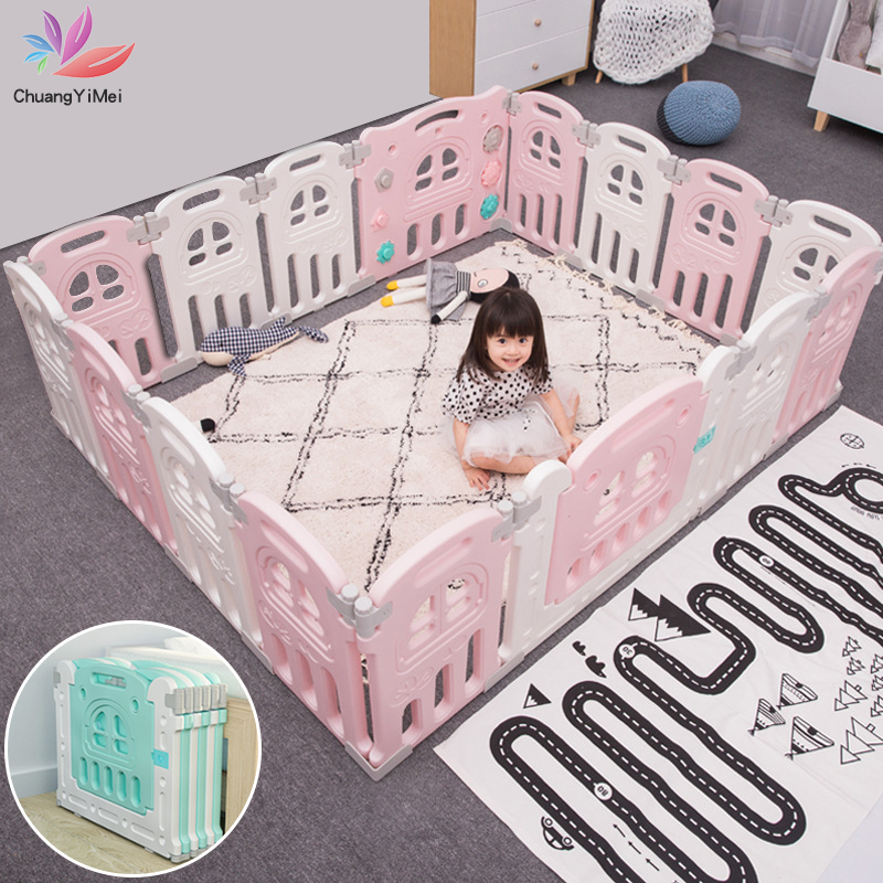Baby Playpens Folding Fencing For Children Kids Activity Protection Barrier Game Safety Fence Educational Play Yard M010