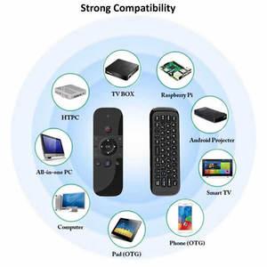 Image 5 - Original W1 PRO mouche Air souris sans fil clavier souris 2.4G rechargeable Mini télécommande pour ordinateur portable intelligent Android TV Box PC