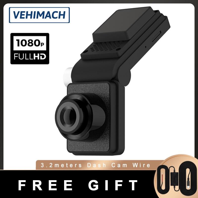 Double caméra Dash Cam cachée 1080P, Mini tableau de bord, rétroviseur, DVR, moniteur de stationnement 24h, enregistrement vidéo automatique