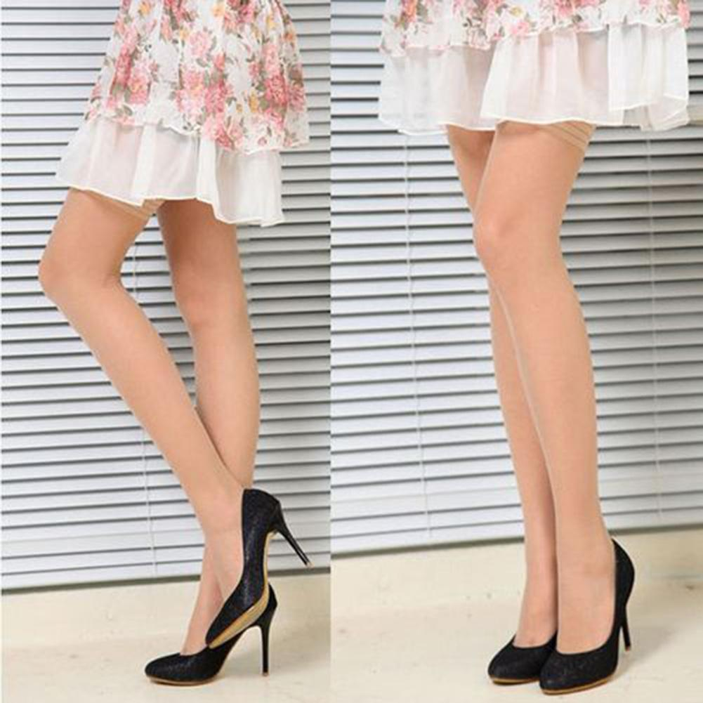 2Pair Women Sexy Ultra Thin Slim Thigh High Stocking Over Knee Socks Sexy Female Hosiery BreathableElastic Socks Stockings