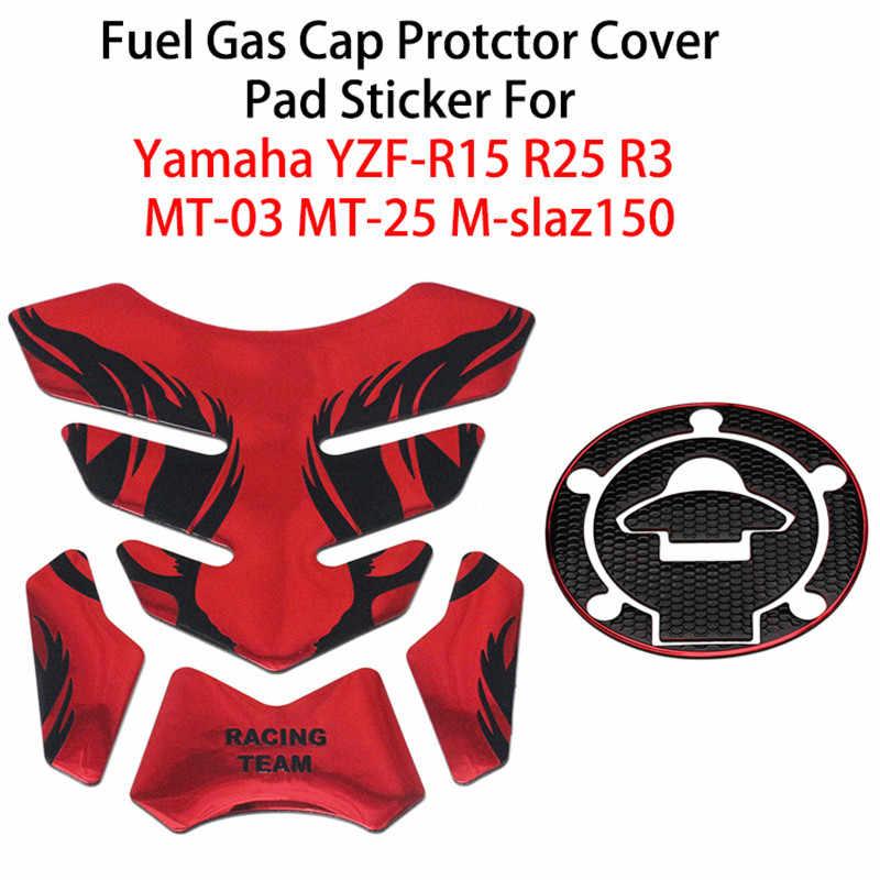 Set Reflective Silver Gas Tank Badge Decals for Yamaha Racing Moto GP Motorcycle