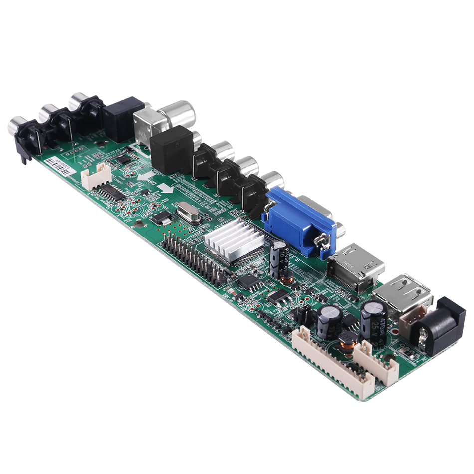 3663 DVB-C DVB-T2 DVB-T TV LCD Controller Board For B154EW08 1280x800 LCD Screen