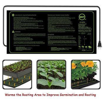 HOT SALES!!! New Arrival Waterproof Seedling Heating Mat Seed Germination Propagation Clone Starter Pad Wholesale Dropshipping gus is hot starter b
