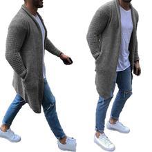 Long Cardigan Men 2020 Hot Sale Mens Long Sleeve Cardigans O