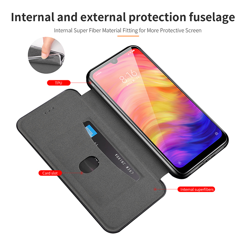 Leather Flip Magnetic Case For Xiaomi Redmi note 8t 8a 9 8 pro 9s 7 7a 5 plus a2 3