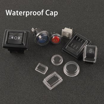 Przełącznik Rocker przezroczysta osłona przeciwpyłowa 10 #215 1 5 21 #215 1 5 31x23mm Mini przycisk przełącznik wodoodporna czapka pokrywa dla średnicy 16 23mm tanie i dobre opinie CN (pochodzenie) Waterproof Cap