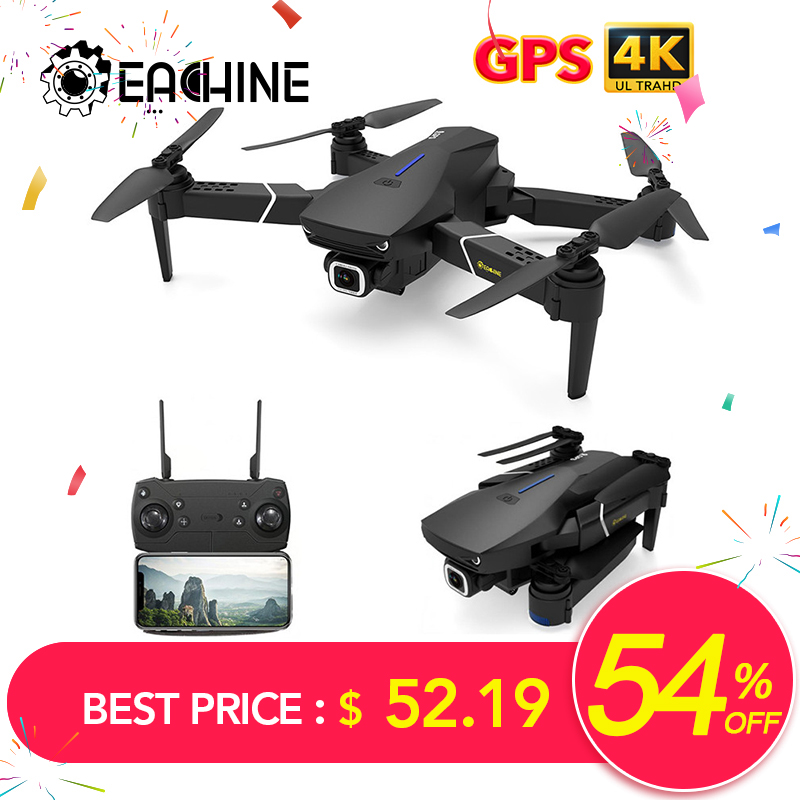 Eachine Quadcopter Rtf Rc-Drone Wide-Angle-Camera Wifi Fpv Foldable E520/E520S with 4K/1080P