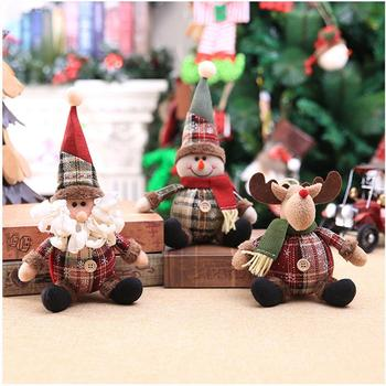 Merry Christmas Decor for Home Elk Snowman Santa Claus Christmas Doll 2020 Christmas Tree Ornaments Xmas Gifts New Year 2021 merry christmas decoration banner christmas tree ornaments xmas santa claus pendant christmas gift new year decoration for home