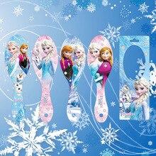 Disney мультфильм замороженная детская расческа Кукла Эльза аксессуары Массажная щетка с подушечкой, наполненной воздухом девочка подарок на день рождения воздушная Массажная Расческа детская расческа для волос