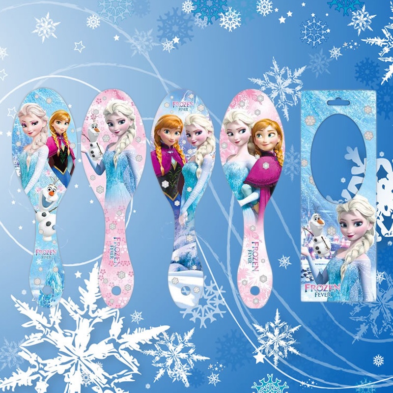 Disney Cartoon Frozen Children Comb Elsa Doll Accessories Airbag Massage Comb Girl  Birthday Gift Air Cushion Comb Kid Hair Comb