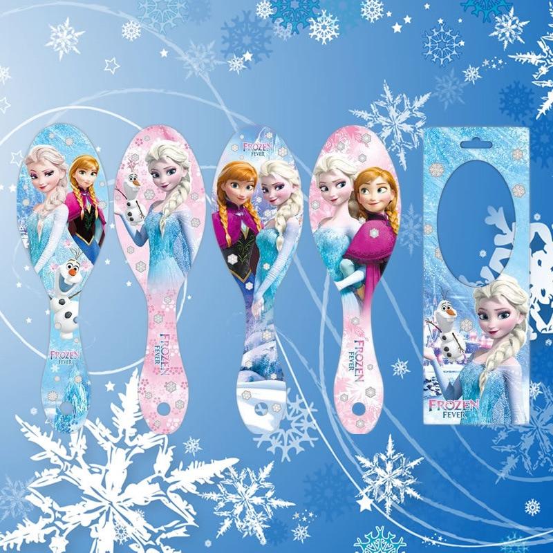 Disney Cartoon Frozen Children Comb Elsa Doll Accessories Airbag Massage Comb Girl  Birthday Gift Air Cushion Comb Kid Hair Comb