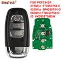 OkeyTech 3 кнопки FSK 868 МГц пульт дистанционного управления автомобильный ключ для Audi A4 A5 Q5 A4L 08-16 8T0959754 D 8K0959754D/H 8T0959754 J новый стиль