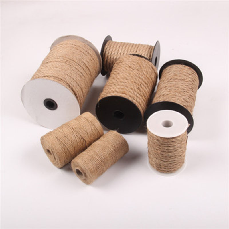 10M Natural Brown Jute Hemp Rope Twine String Cord DIY Shank Crafts 4mm//6//8//10mm