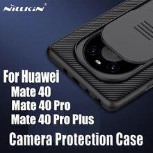 Dla Huawei mate 40 Pro/40 Pro + Plus Case NILLKIN CamShield Case pokrywa kamery slajdów dla Huawei mate 40 tylna okładka