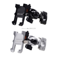 Waterproof Motorcycle Phone Mount with QC 3.0 USB Quick Charger Motorbike Mirror Handlebar Stand Holder for 4.3-6.7 inch Phone