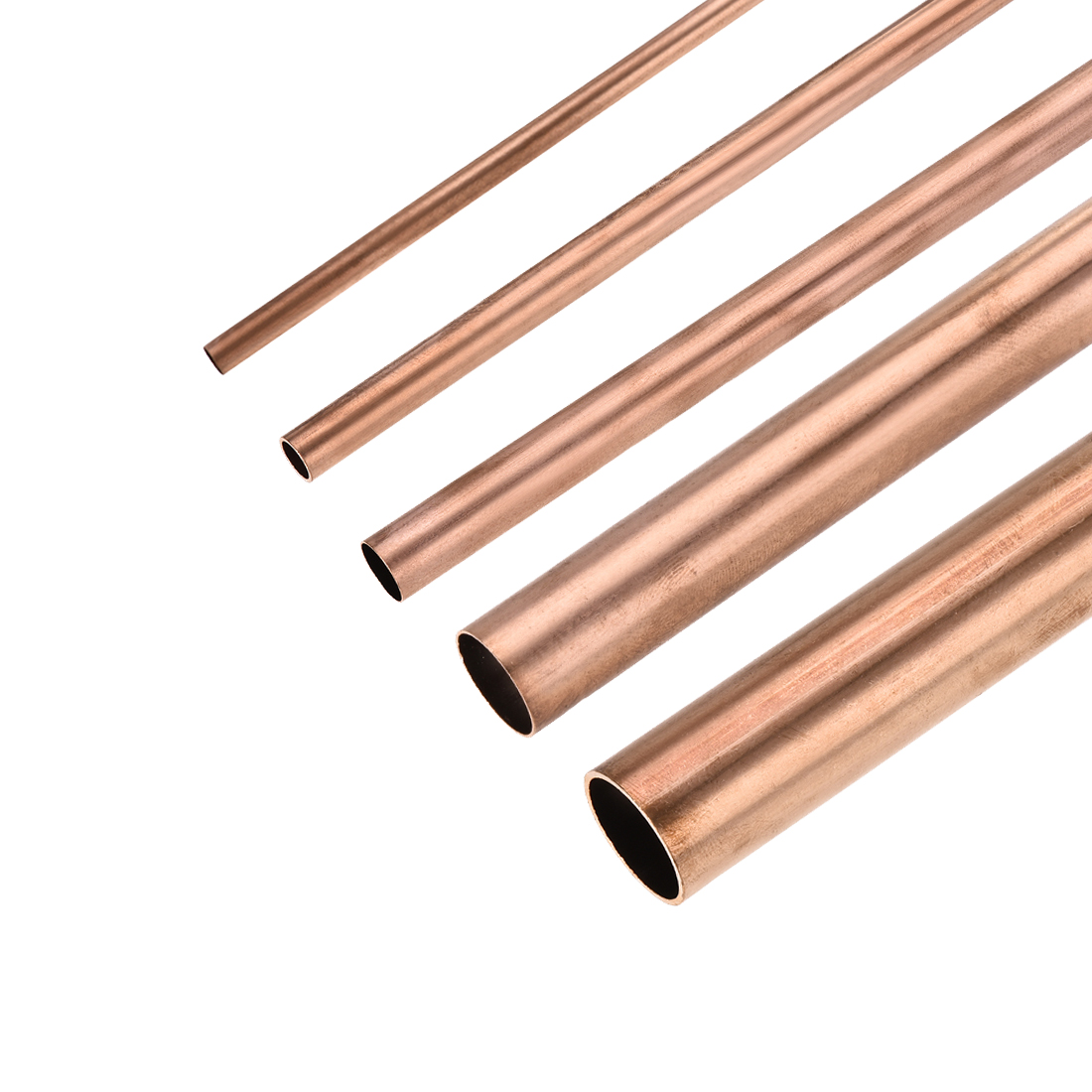 Uxcell 3Pcs Copper Hollow Straight Pipe Tubing 100mm/200mm/300mm Length Round Tube For DIY Crafts