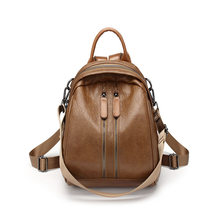 Cow Leather Backpack Women European Fashion Laptop Backpack College Students School Bags Genuine Leather Bagpack Knapsack C1156(China)