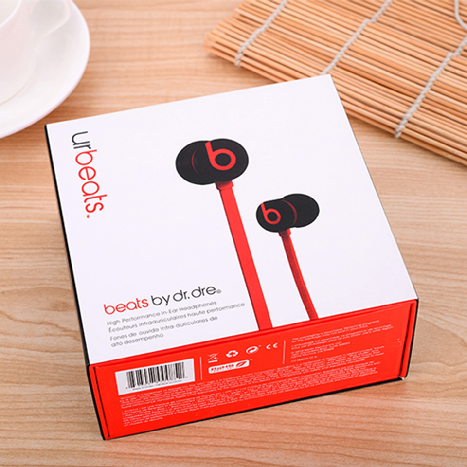 Beats urBeats 2.0 3.5mm Wired Earphones Stereo Bass Sport Headset Line Control Earbuds Handsfree RemoteTalk with Mic for iPhone 4