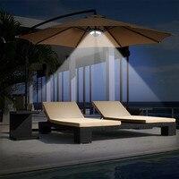 Iluminación LED Solar para jardín y Casa, lámpara de paraguas para tienda de campaña, con carga USB