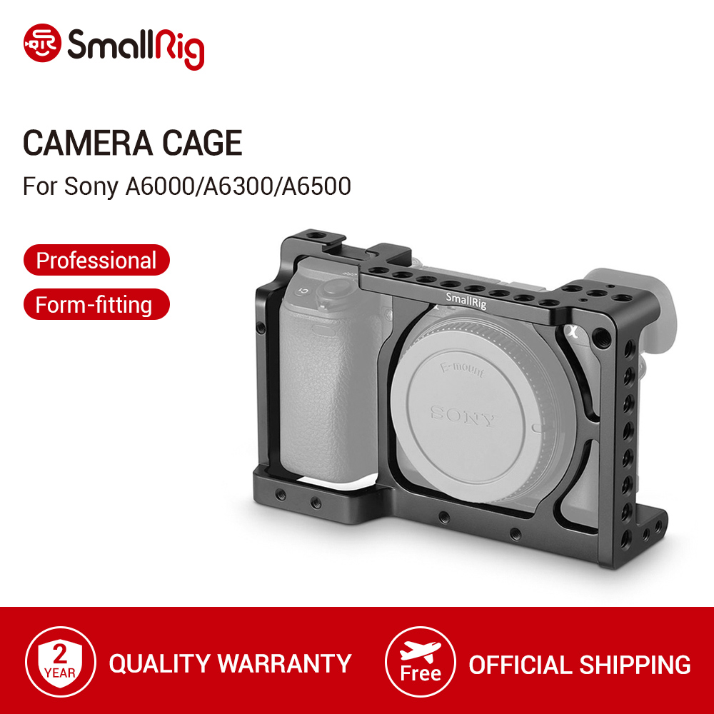 <font><b>SmallRig</b></font> Camera Cage for Sony A6000/A6300/A6500 ILCE-6000/ILCE-<font><b>6300</b></font>/A6500/Nex-7 Aluminum Alloy Cage To Mount Tripod Monitor-1661 image