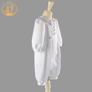 Image 2 - ذكيا الطفل الصبي الملابس التعميد أثواب الصلبة الطفل الملابس الوليد الرضع الملابس معطف أبيض 3M 6M 9M 12M vestidos