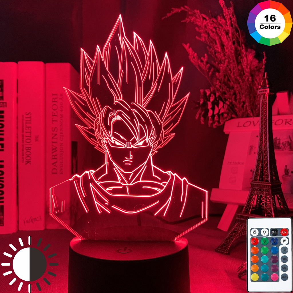 3d Led Night Light Dragon Ball Goku Super Saiyan Figure Nightlight for Kids Bedroom Decor Atmosphere Colorful Bedside 3d Lamp(China)