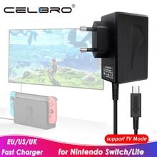 Chargeur adaptateur secteur pour chargeur Nintendo Switch 15V 2.6A charge rapide pour chargeur de Mode TV