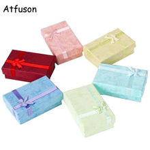 16 Pcs/Lot Fashion Color Luxury Pendant Bracelet Earrings Gift Boxes Paper Necklace Ring Storage Rangement Bijoux 8x5x2.5cm(China)