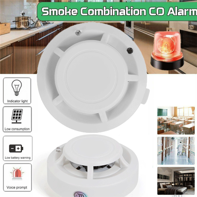 CO & Smoke Alarm Detector Carbon Monoxide Smoke Detector Home Fire Warn Sensor