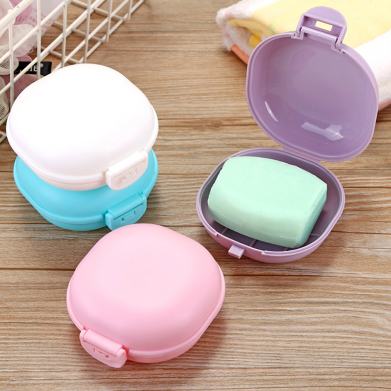 1PC New Fashion Soap Box Shower Plate Hiking Bathroom Home Case Container Travel Holder Dish Colorful Hot Sale