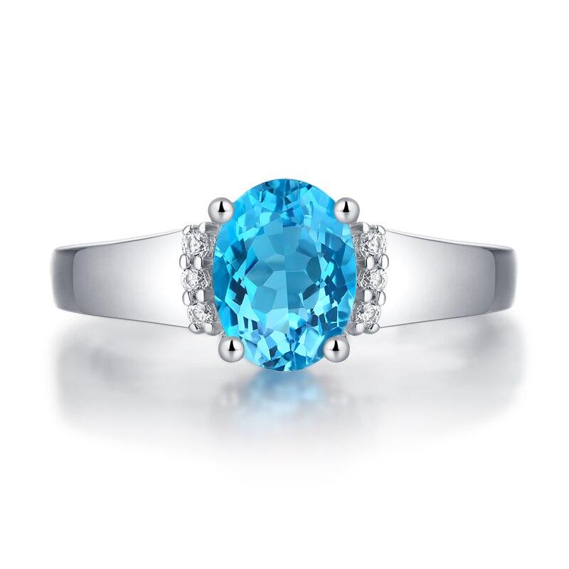 Yulaili Simple luxe 925 Sterling anneaux pour femmes romantique bleu couleur anneau fille cadeau fiançailles bijoux
