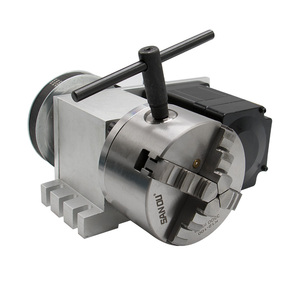 Image 2 - Cnc 4th a aixs 3 4 mandíbula k12 mandril 100mm nema 34 motor deslizante 4:1/nema23 6:1 + estoque da cauda para roteador