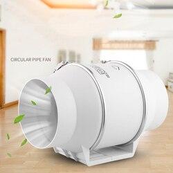 4 6 8 220 فولت مروحة العادم المنزل الصامت مضمنة أنبوب مروحة الحمام النازع التهوية المطبخ المرحاض جدار الهواء التهوية نظيفة